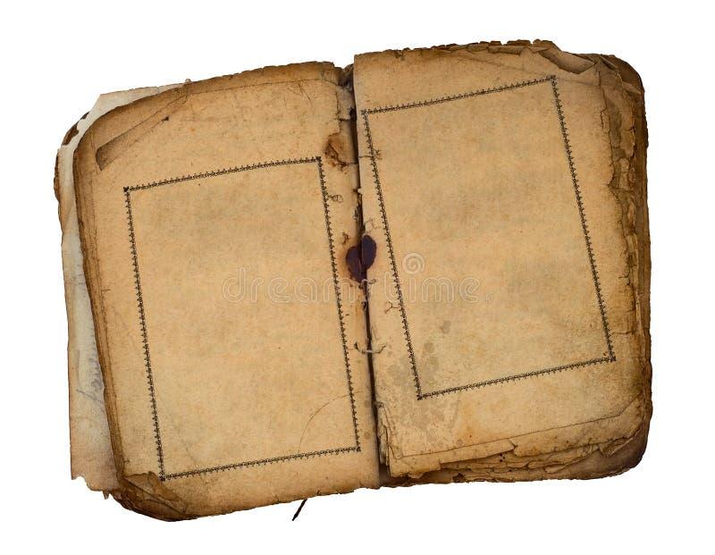 pusta książka oba stare otwarte strony obrazy royalty free