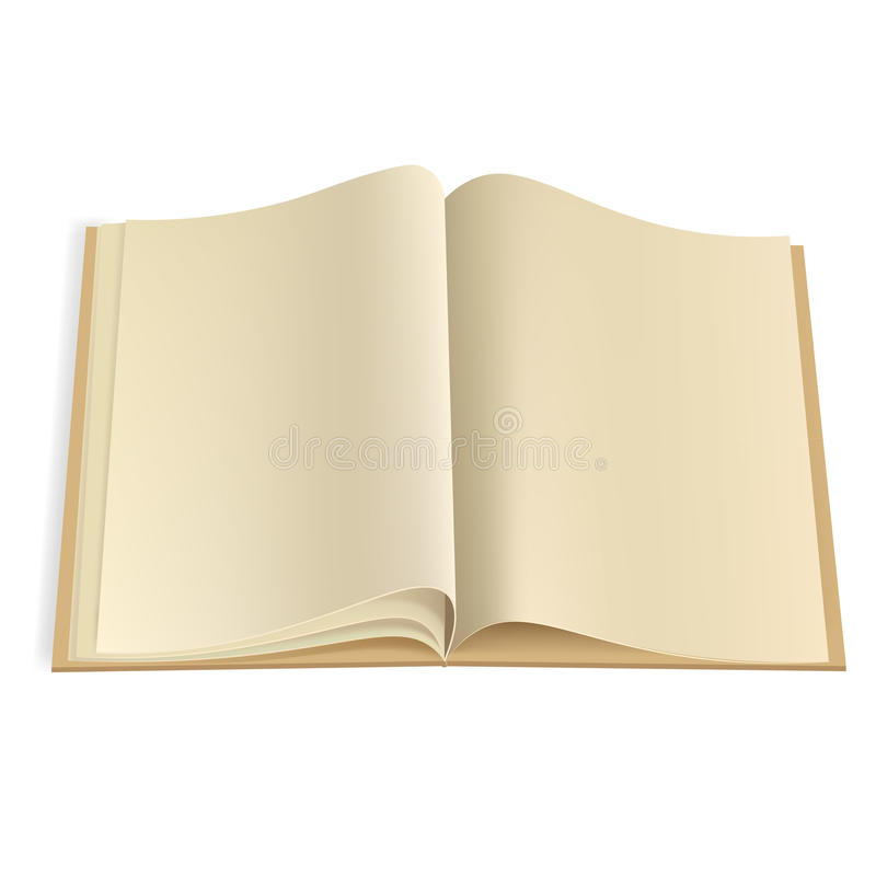 pusta książka wzywa szablon ilustracja wektor