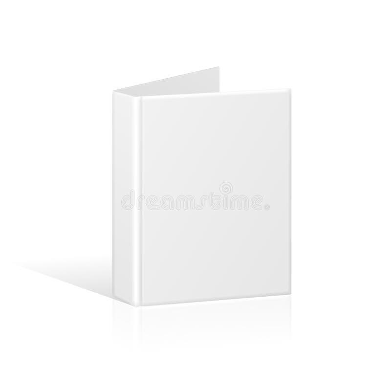 Pusta Książkowa pokrywa, segregator lub falcówka szablon, ilustracji