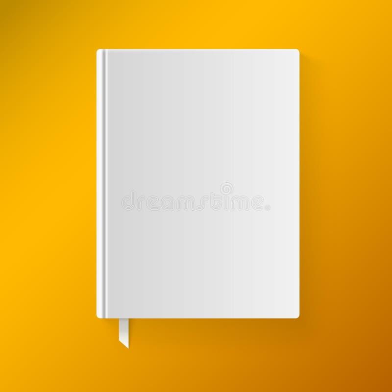 Pusta książkowa pokrywa z bookmark. Przedmiot dla ilustracji