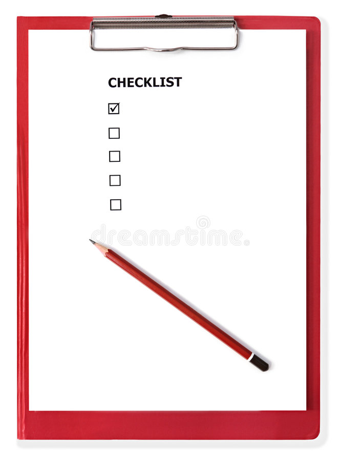 pusta lista kontrolna schowka czerwony obrazy royalty free