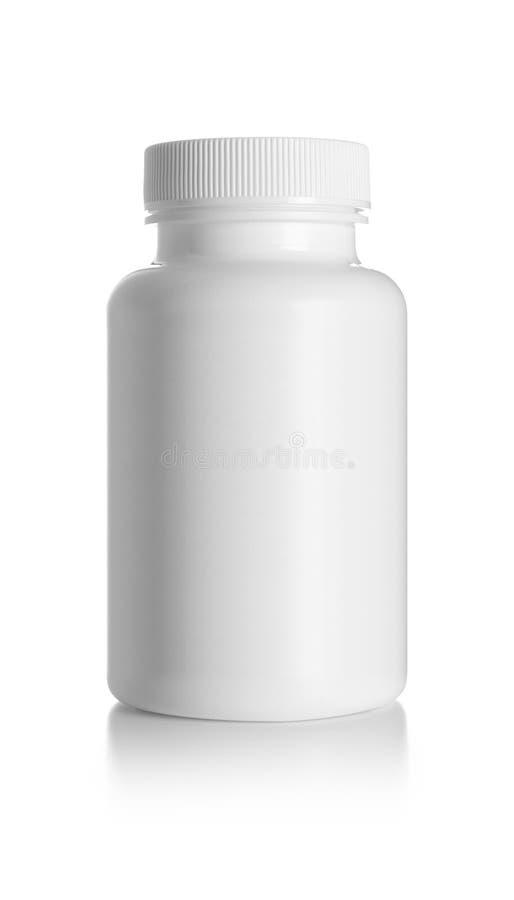 Pusta medycyny butelka obraz stock