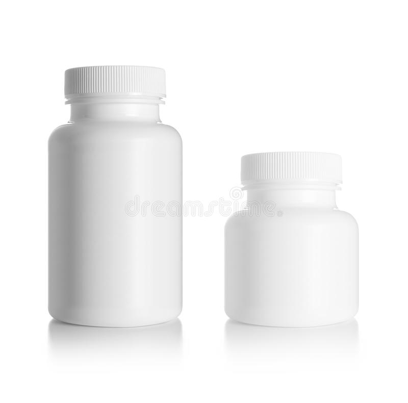 Pusta medycyny butelka fotografia stock