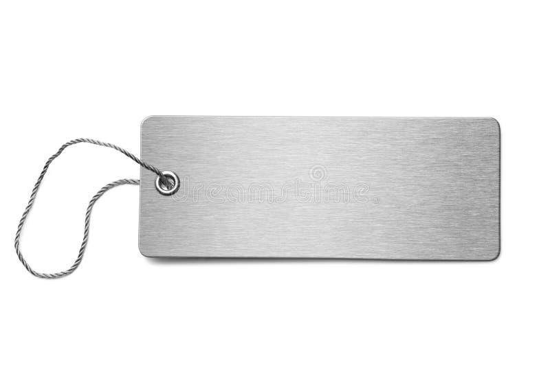 Pusta metal psiej etykietki odosobniona 3d ilustracja zdjęcie stock