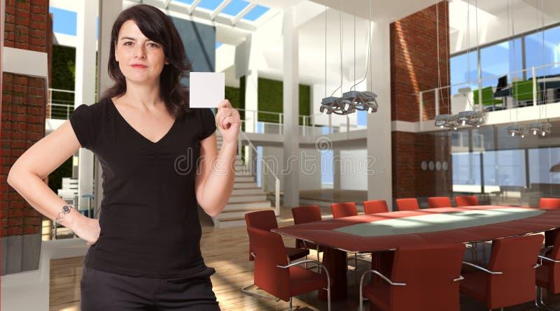 pusta mienia notatki biura kobieta fotografia stock