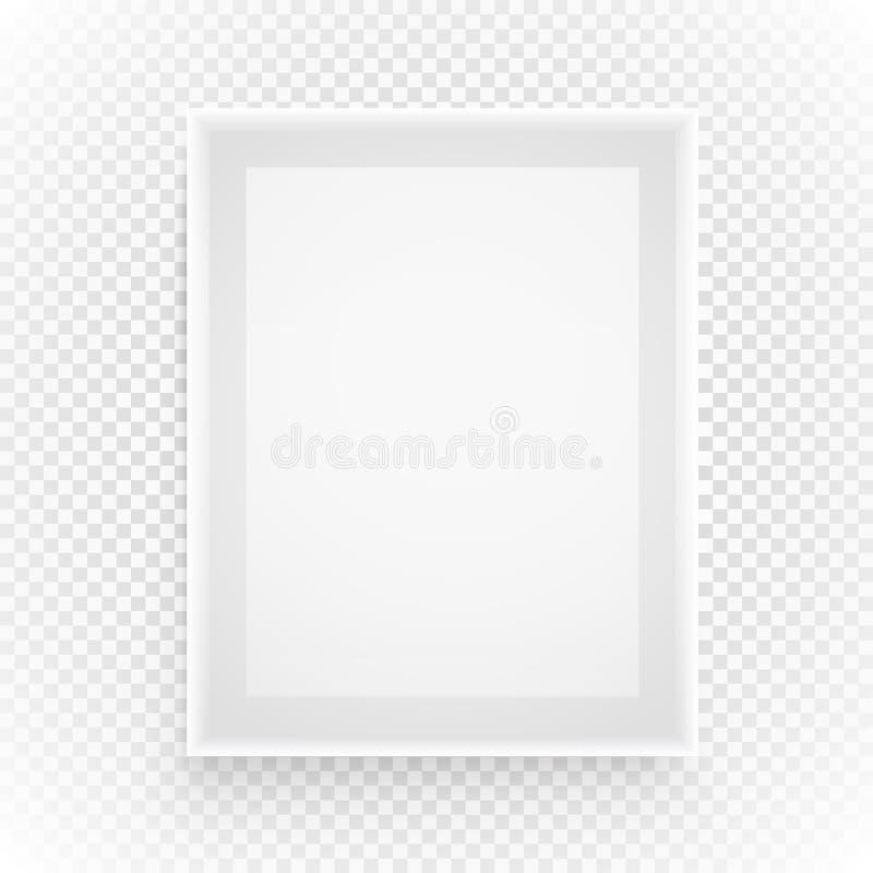 Pusta obrazek rama na przejrzystym ilustracji