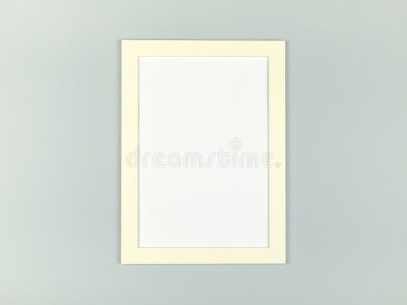 Pusta obrazek rama na textured pastelu barwił tło fotografia stock