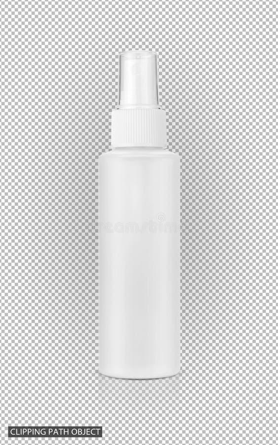 Pusta pakuje kosmetyczna kiści butelka royalty ilustracja