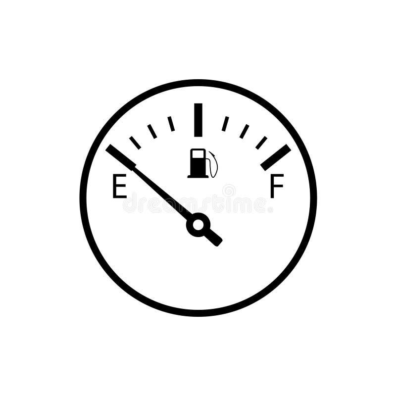 Pusta paliwowego wymiernika ikona ilustracji
