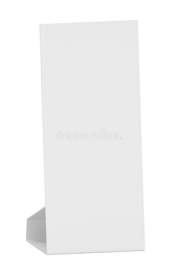 Pusta papierowego stołu karta ilustracja wektor