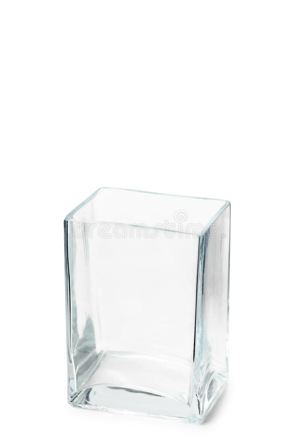 Pusta Parallelepipedic Krystaliczna waza obraz royalty free