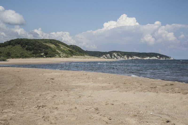 Pusta piaskowata plaża wyspa zdjęcia stock