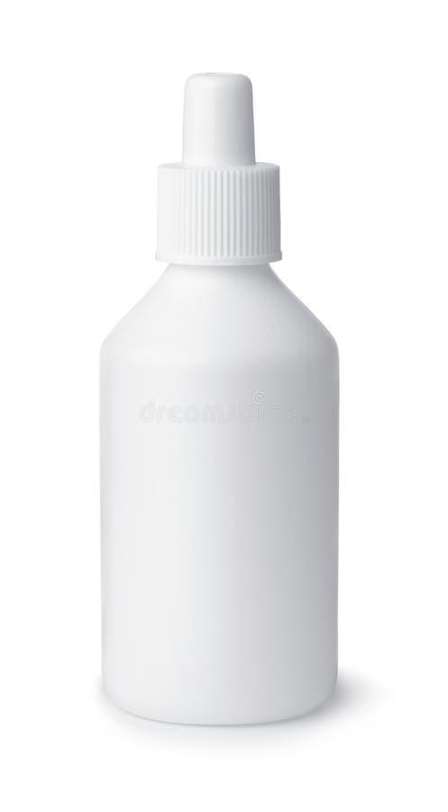 Pusta plastikowa butelka lekarska zdjęcie stock