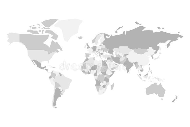Download Pusta Polityczna Mapa świat Uproszczona Wektorowa Mapa W Cztery Ilustracja Wektor - Ilustracja złożonej z atlant, szczegółowy: 106923718