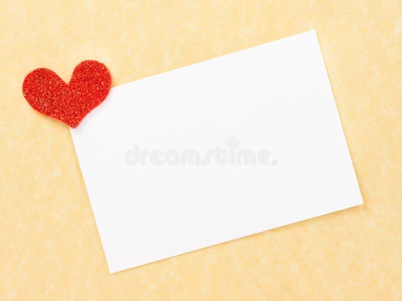 Pusta prezent karta dla teksta na pergaminowego papieru tle obraz royalty free