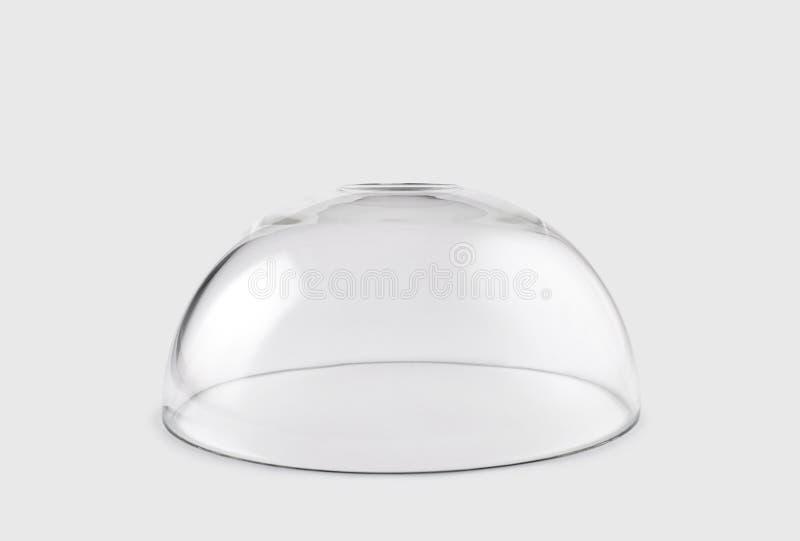 Pusta przejrzysta szklana kopuła fotografia royalty free