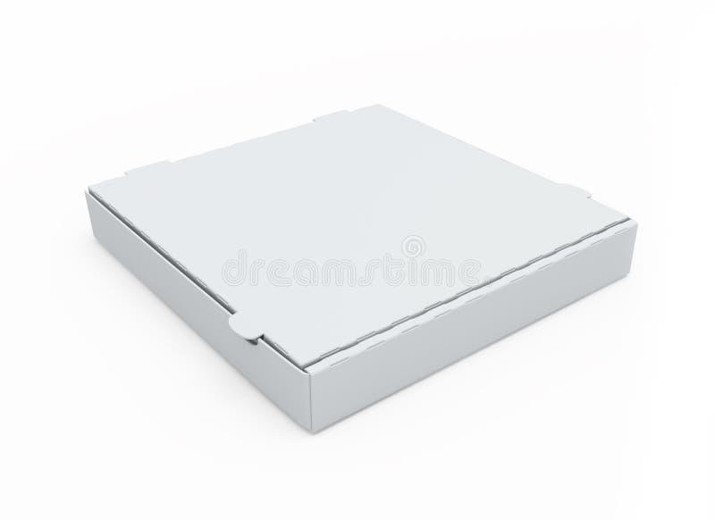 pusta pudełkowata kartonowa pizza ilustracji