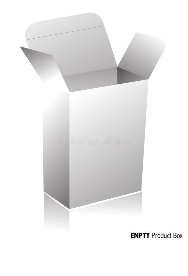 pusta pudełkowata równina ilustracja wektor