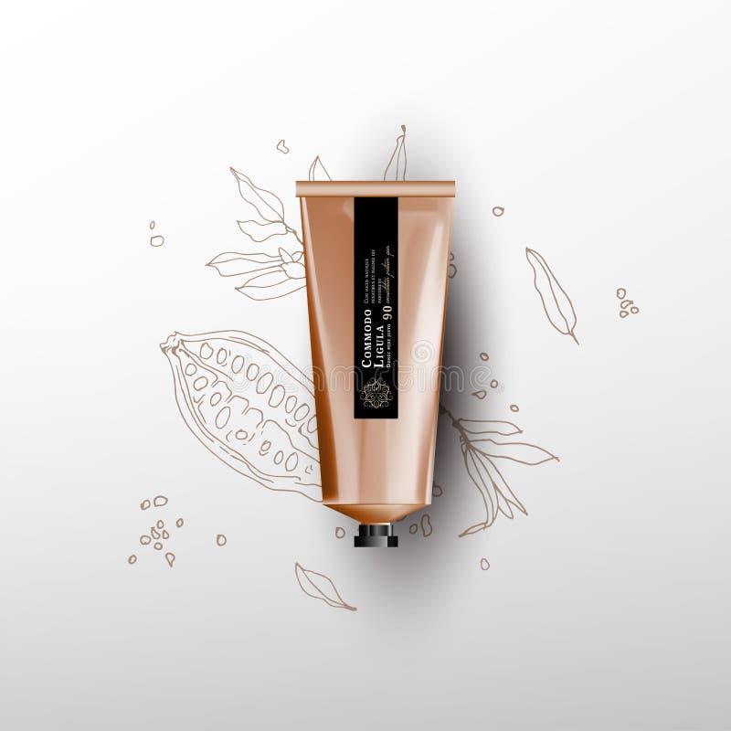 Pusta realistyczna tubka dla kosmetyków royalty ilustracja