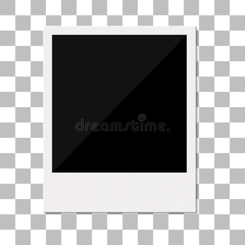Pusta retro polaroid fotografii rama. ilustracja wektor