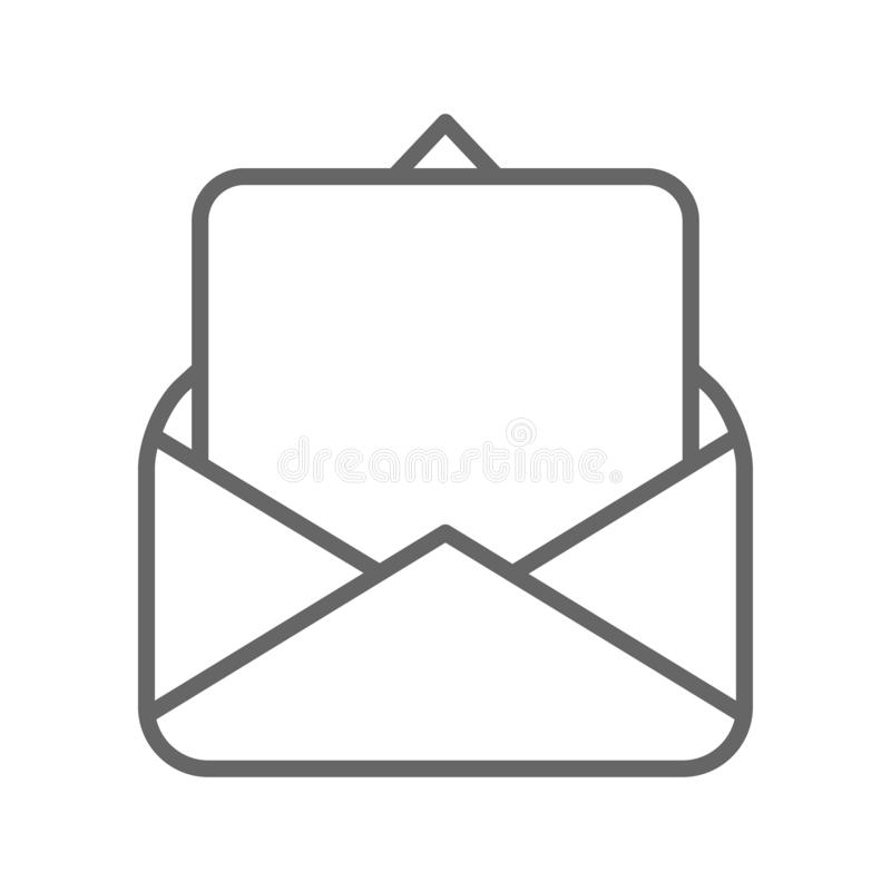 Pusta strona w poczta kopertowym czarnym wektorze ilustracja wektor