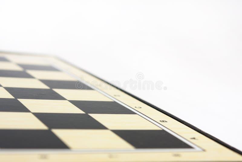 Pusta szachowa deska na białym tle fotografia royalty free