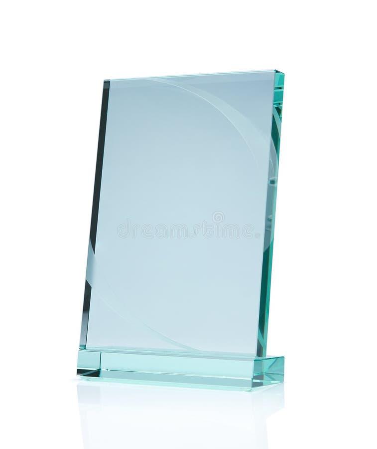 Pusta szklana nagroda obraz stock
