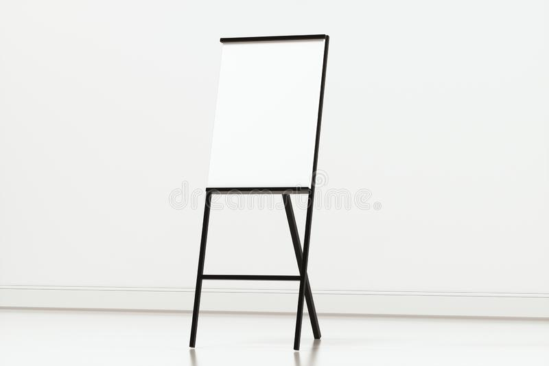 Pusta sztalugi deska z białym tłem, 3d rendering royalty ilustracja