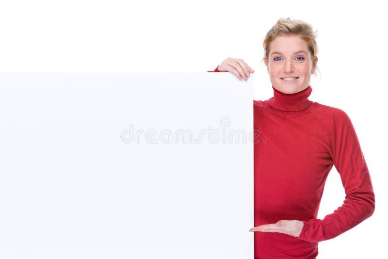pusta szyldowa kobieta obraz royalty free