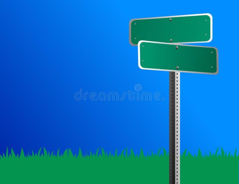 pusta szyldowa ulica ilustracja wektor