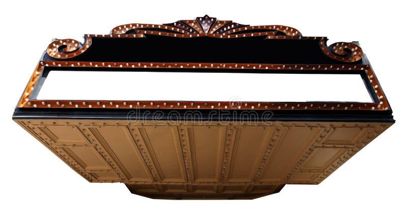 Pusta teatr markiza obraz royalty free