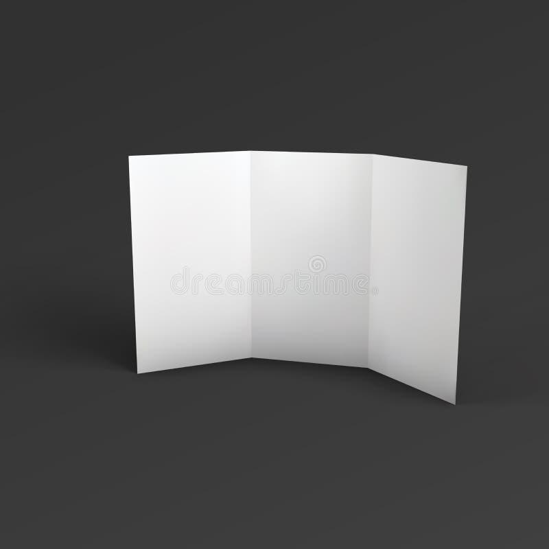 Pusta trifold papierowa broszurka royalty ilustracja