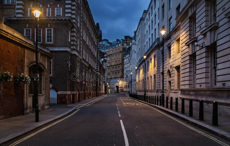 Pusta ulica Londyn fotografia royalty free