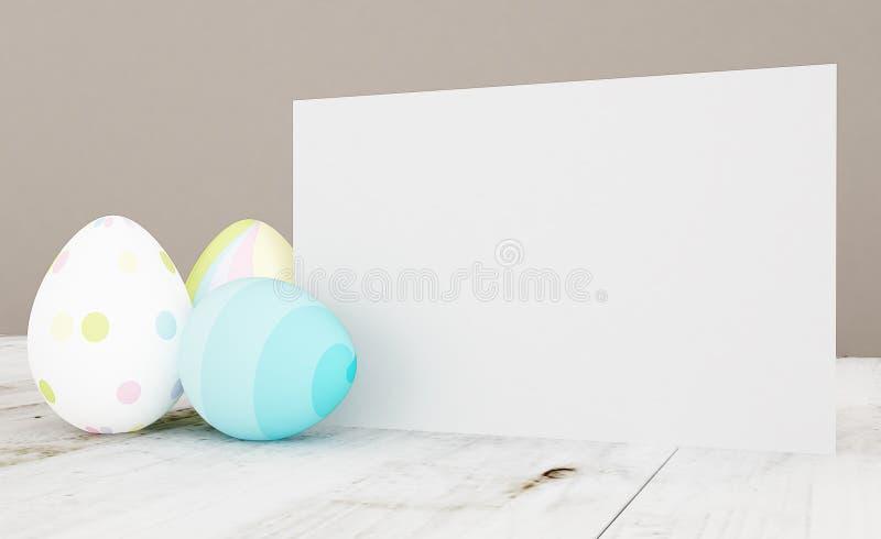 Pusta ulotka Easter obrazy stock