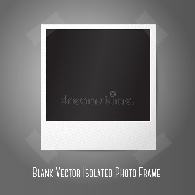Pusta wektorowa natychmiastowa fotografii rama, sticked ilustracja wektor