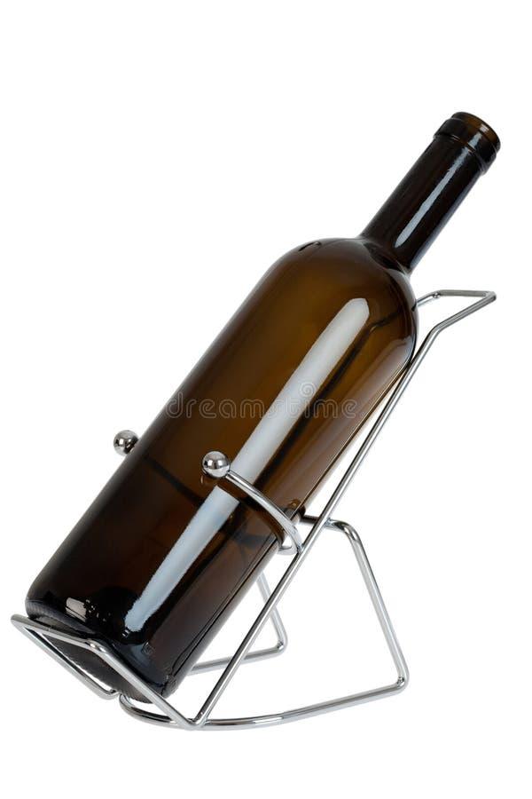 Pusta wino butelka w poparciu odizolowywającym obraz royalty free
