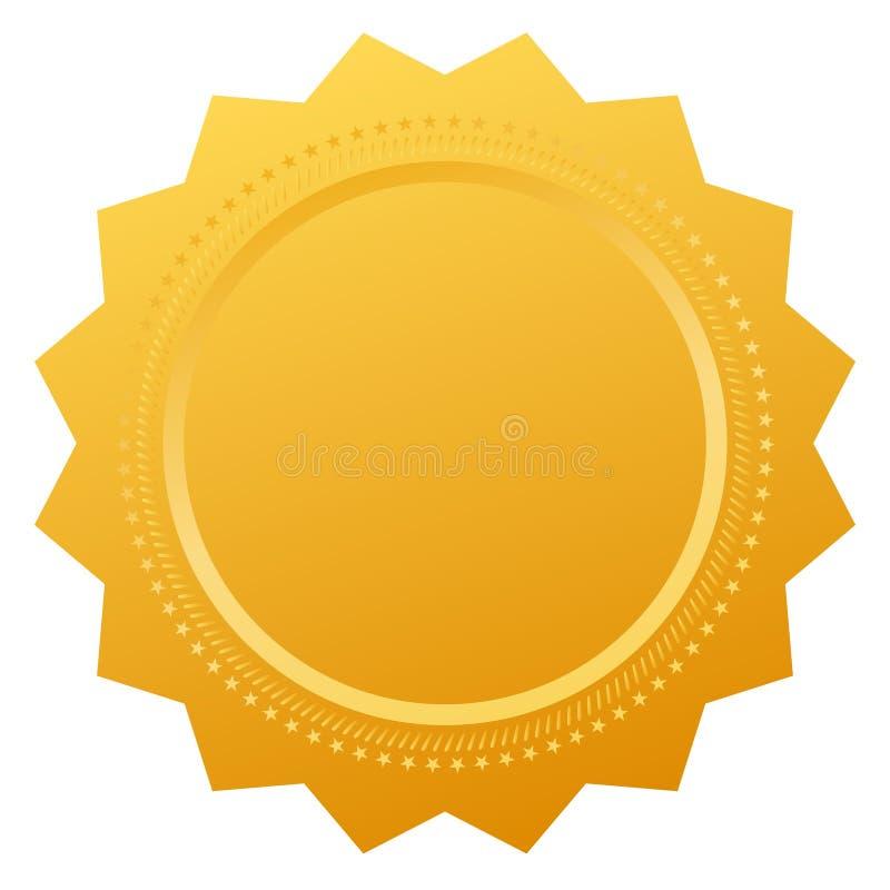 Pusta złocista odznaka ilustracji