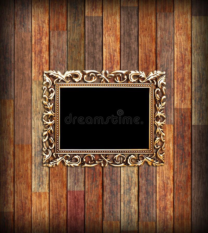 Pusta złota rama obrazy royalty free
