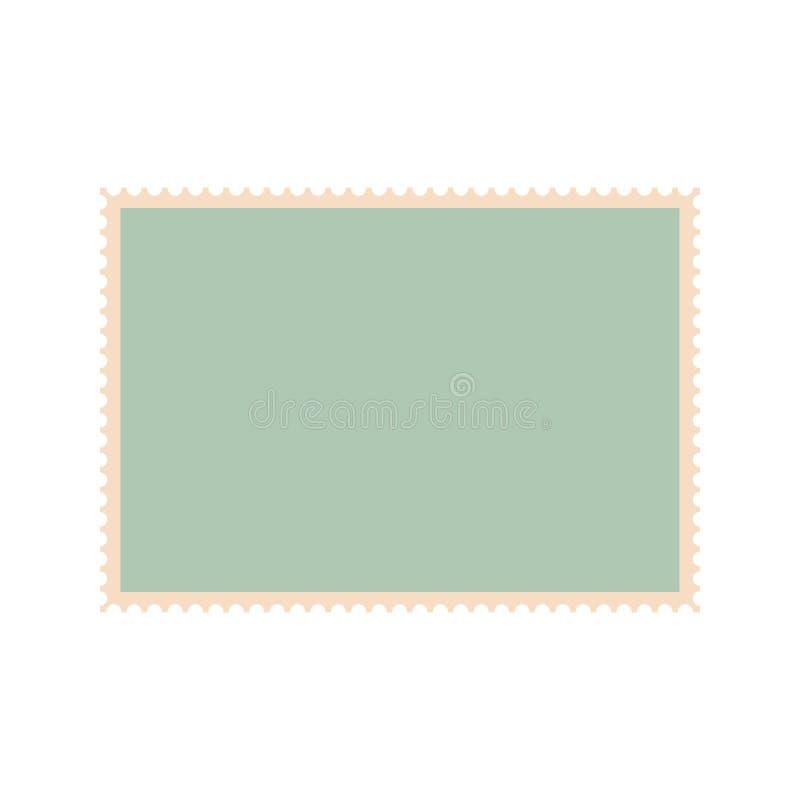 Pusta znaczek pocztowy ikona, mieszkanie styl ilustracja wektor