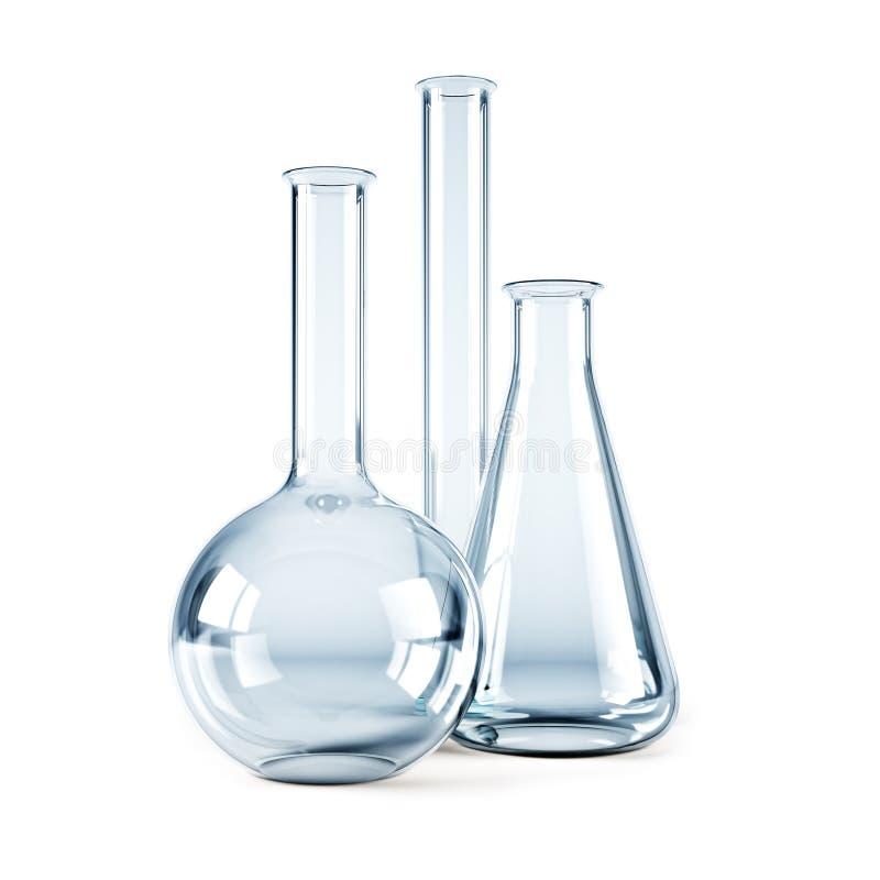 puste kolby substancji chemicznych ilustracja wektor