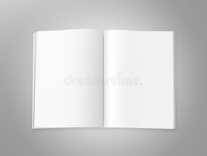 Puste magazyn strony ilustracja wektor