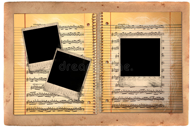 puste miejsca brudzą polaroid ekranowej prążkowanej papierowej szkoły zdjęcia royalty free