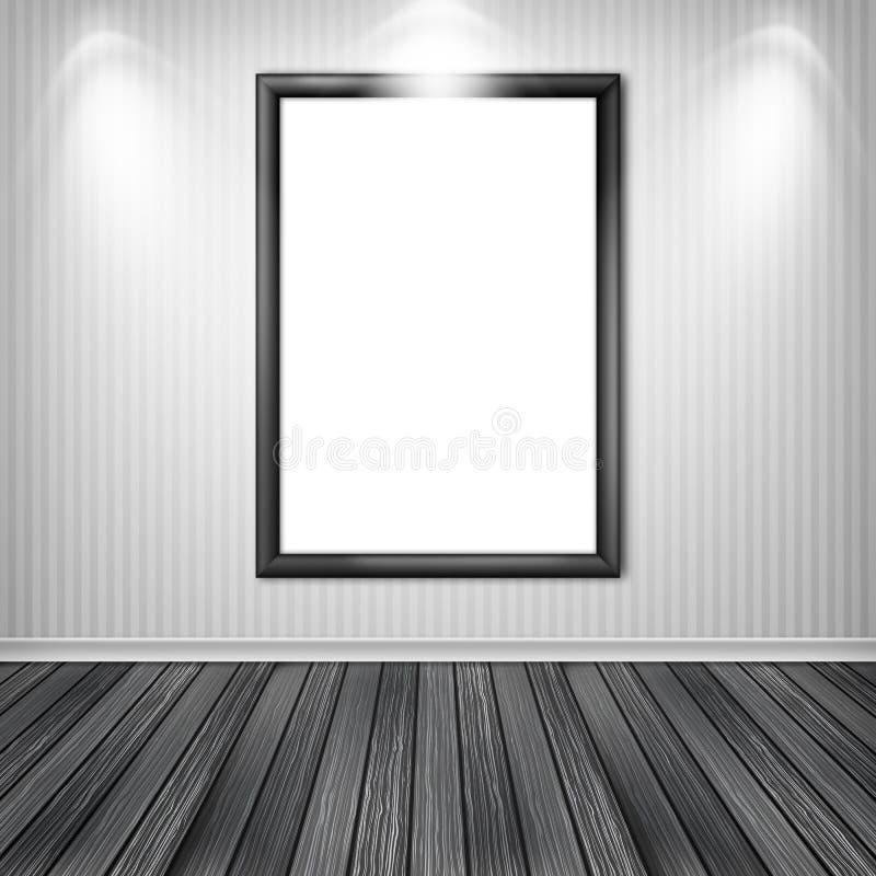Puste miejsce bielu pusta rama royalty ilustracja