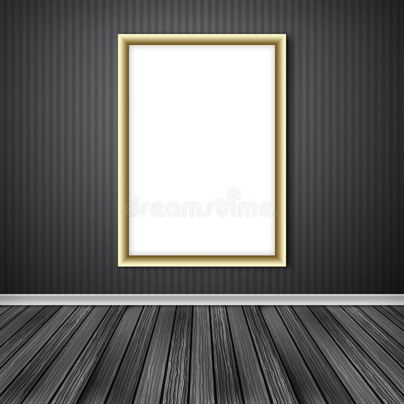 Puste miejsce bielu pusta rama ilustracji