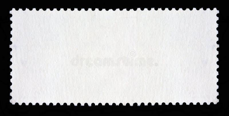 Puste miejsce długi prostokątny znaczek pocztowy zdjęcia stock