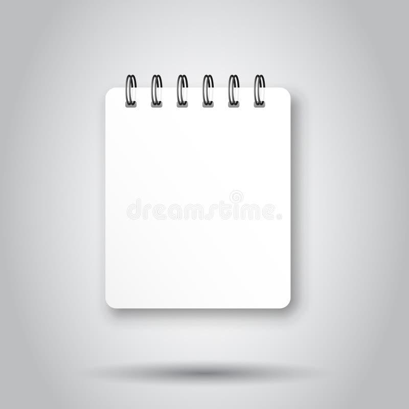 Puste miejsce egzamin pr?bny w g?r? notepad ikony w przejrzystym stylu ?limakowatego notatnika dokumentu wektorowa ilustracja na  royalty ilustracja