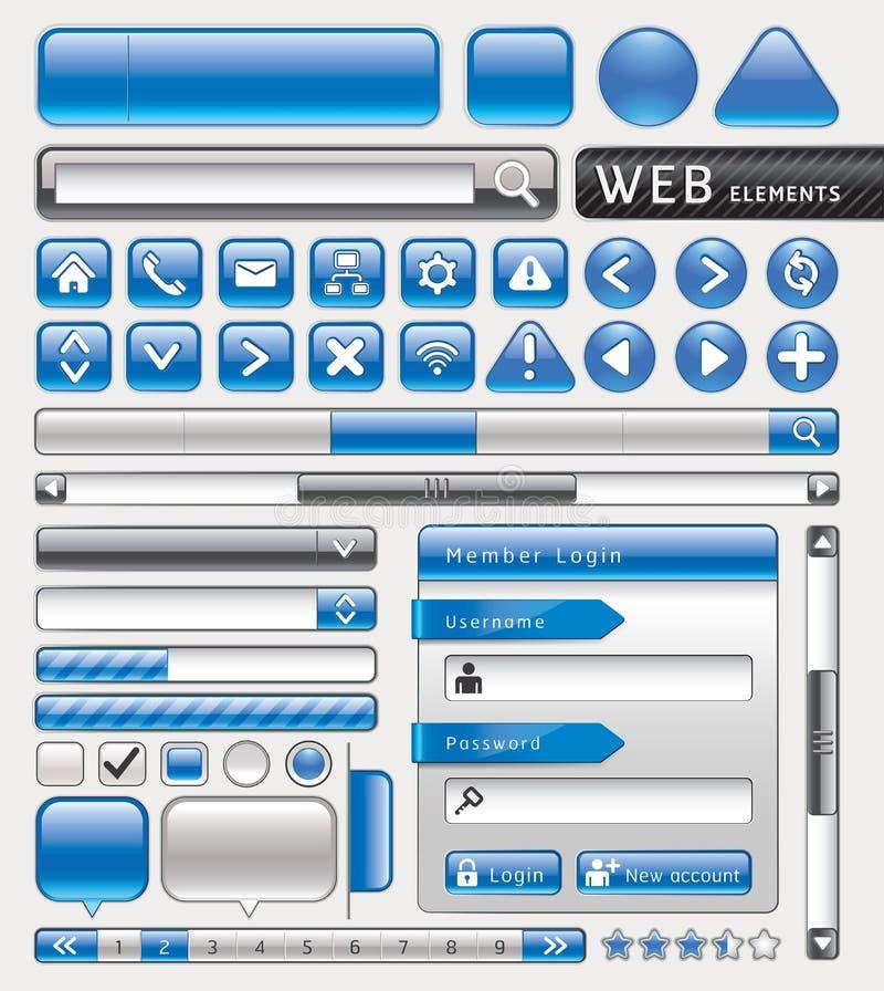 Puste miejsce guziki dla strony internetowej i app. royalty ilustracja