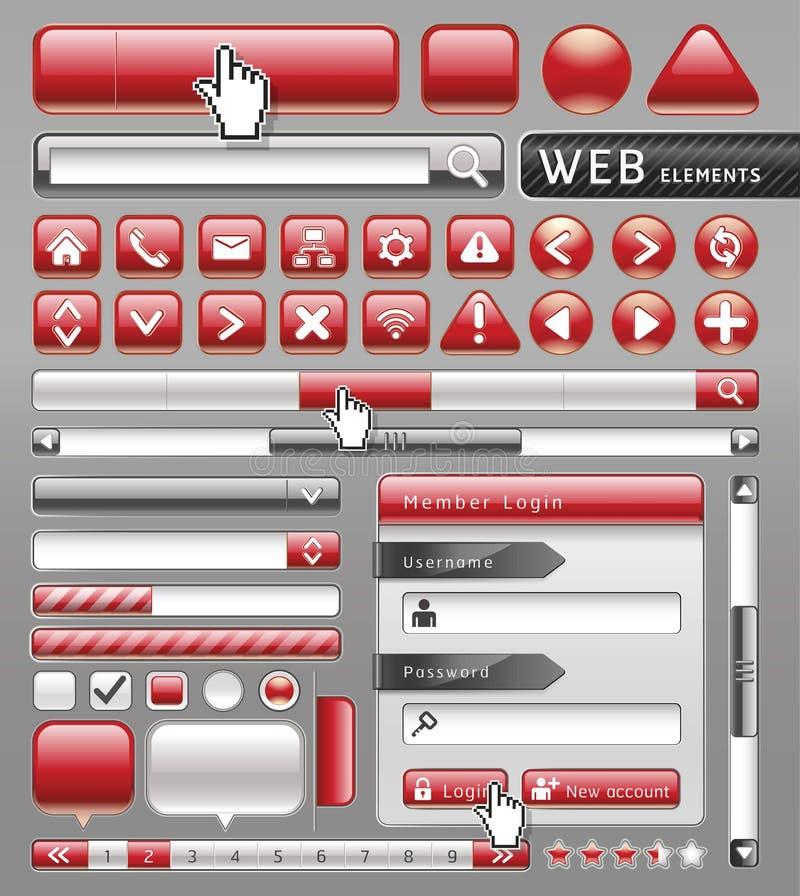Puste miejsce guziki dla strony internetowej i app. ilustracji
