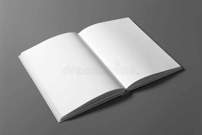 Puste miejsce książka odizolowywająca na popielatym obrazy royalty free