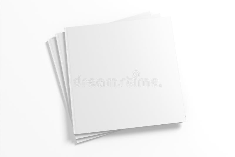 Puste miejsce Kwadratowy magazyn odizolowywający na bielu royalty ilustracja